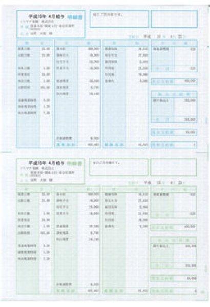 画像1: SR2101給与・賞与明細書(明細型)少量100枚┃ソリマチ給料王サプライ用紙伝票専門通販店 (1)
