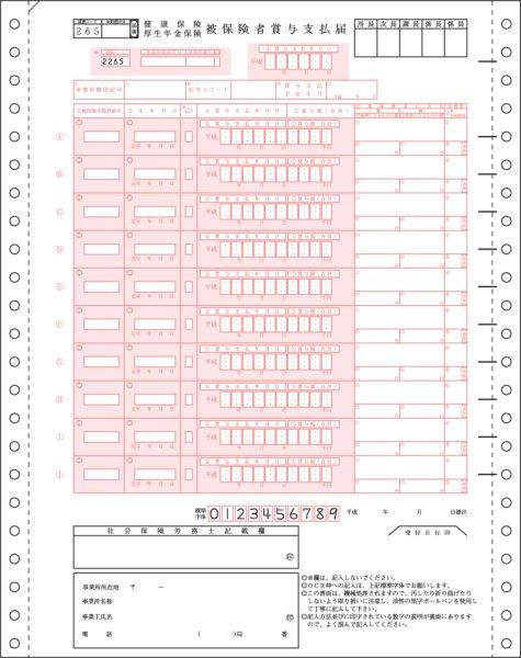 画像1: BP1307健保賞与支払届ヒサゴ(hisago)伝票 (1)
