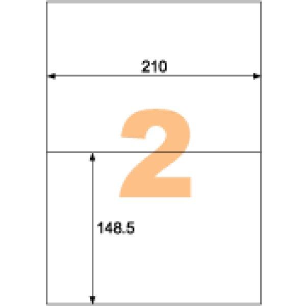 画像1: OP3022ヒサゴA4タックシール 2面 (1)