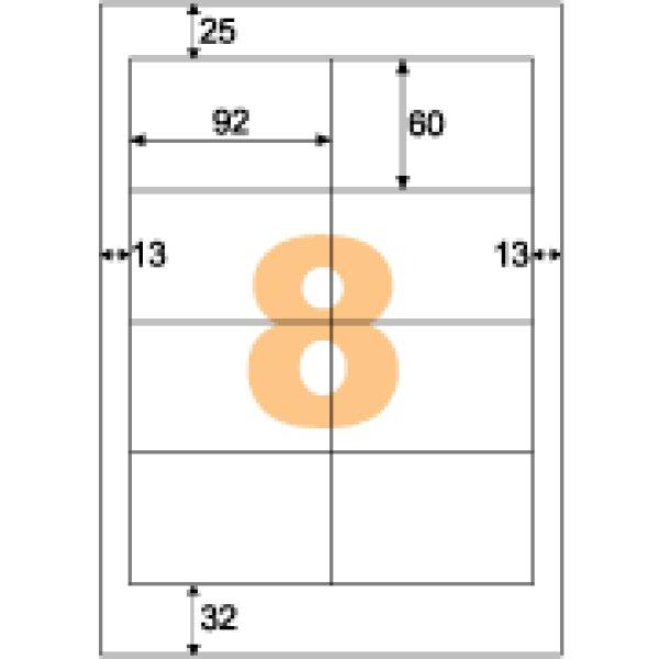 画像1: ELM015エコノミーラベル 8面 PD・SCM用 (1)
