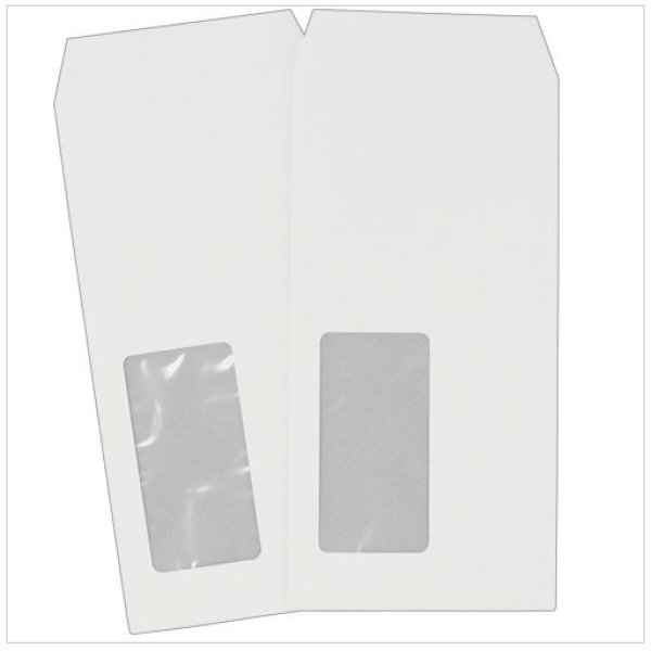 画像1: A4用紙3つ折りサイズ定形郵便用封筒にそのまま入る!業務用透けない窓付封筒 長6  ホワイト100枚×3冊 (1)