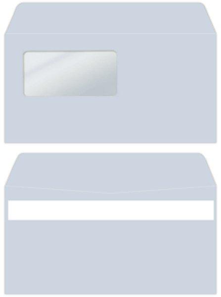 画像1: 333107N弥生・窓付き名入れ封筒アクア・2,000枚 (1)