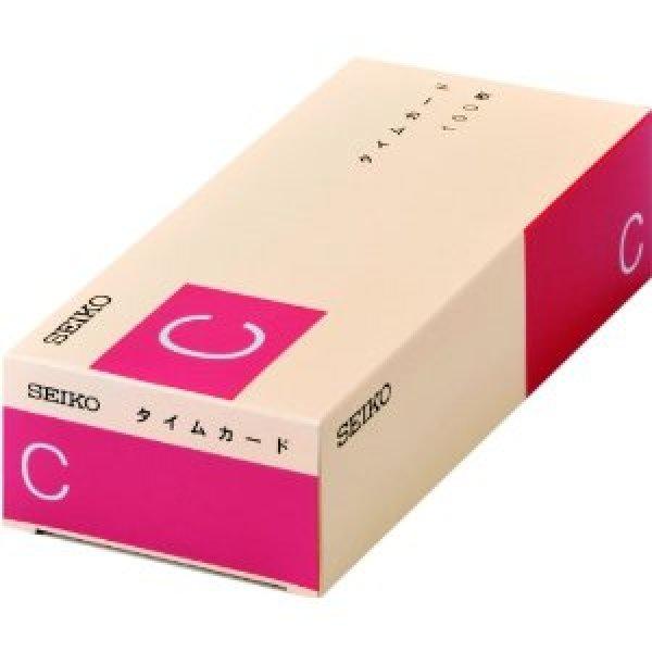 画像1: セイコーCカードタイムカード(任意の締日対応、両面6欄)100枚入りx2セット (1)