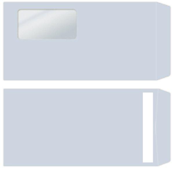 画像1: 333117弥生窓付封筒(アクア)シールのり付き (1)