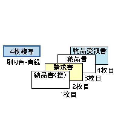 画像1: GB149納品書 請求・受領付 4P ヒサゴ(hisago)ドットプリンター用サプライ用紙伝票