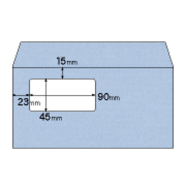 画像1: MF13T窓つき封筒 A4三ツ折用/アクア(青)ヒサゴ(hisago)窓あき封筒 (1)
