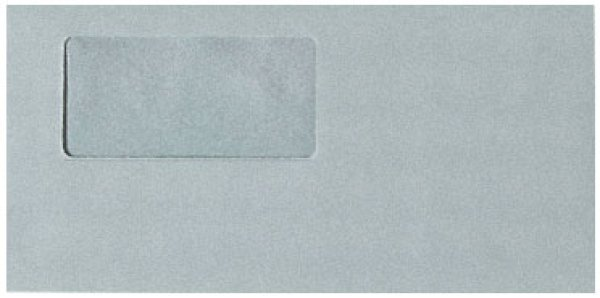 画像1: 333103窓付封筒グレー(灰色)弥生販売・弥生給与・弥生会計伝票用 (1)