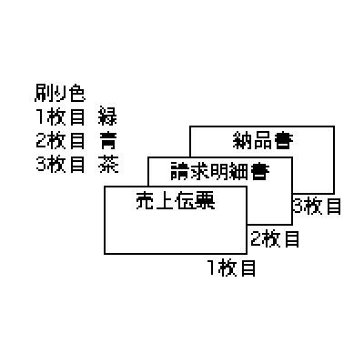 画像1: GB233-3S売上伝票 請求・納品付 3P ヒサゴ(hisago)ドットプリンター用サプライ用紙伝票