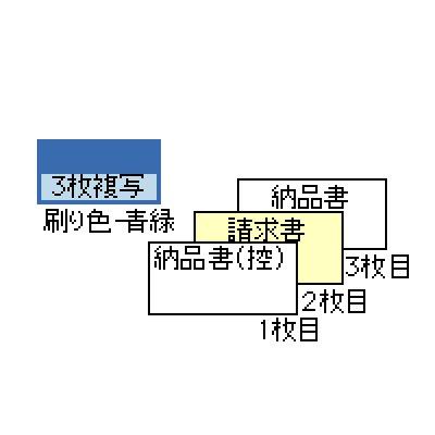 画像1: GB550-3S納品書(請求)3P ヒサゴドットプリンター用サプライ用紙伝票