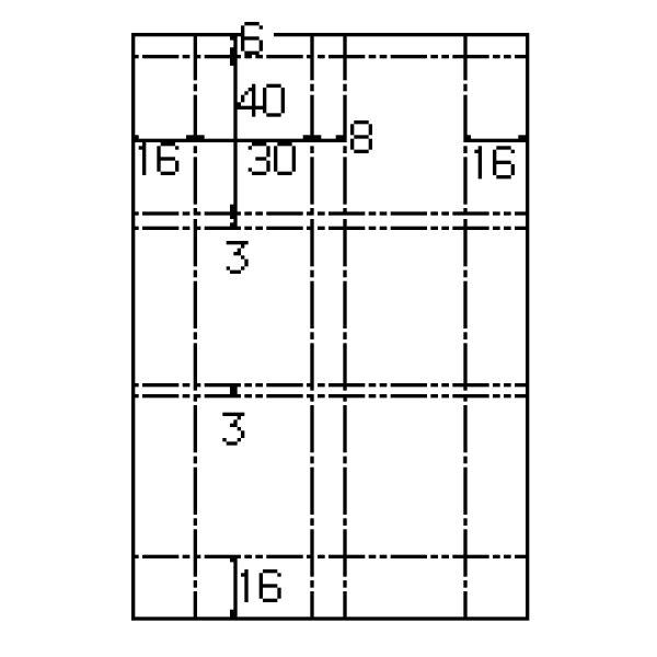 画像1: ヒサゴ(hisago)CJ766Sデジカメ証明写真サイズカード 6面x6セット (1)