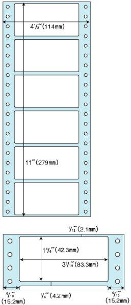 """画像1: GB354タック6 ヒサゴ(hisago)4 1/2""""x11""""タックシールラベル (1)"""