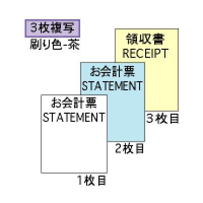 画像1: 3231お会計票(税サービス付)105×200 3P ヒサゴ(hisago)手書き伝票