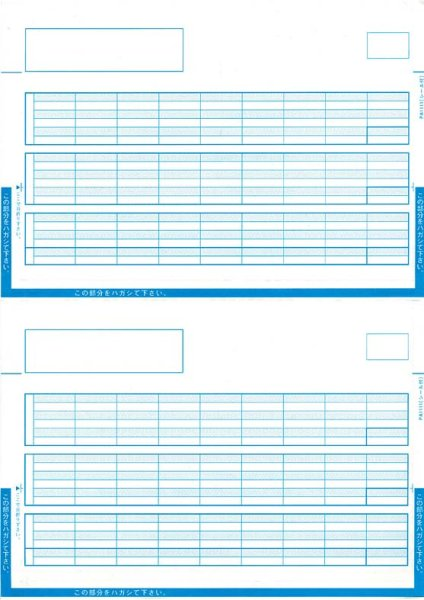 画像1: PA1114F給与明細書単票封筒 PCA給与じまん、ピーシーエー給与専用伝票 (1)