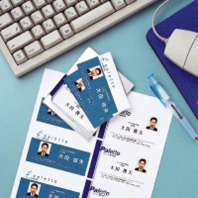 画像1: LP10Nカラーレーザプリンタ専用 名刺・カード 8面/ホワイト 特厚口 ヒサゴ(hisago)カード