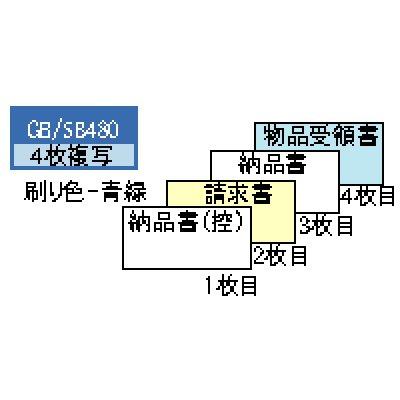 画像1: GB480納品書 請求・受領付 4P ヒサゴ(hisago)ドットインパクトプリンター用サプライ用紙伝票