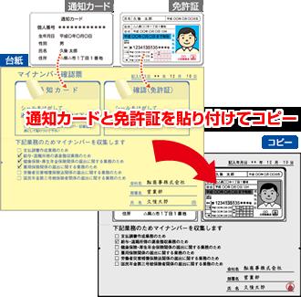 マイナンバーは通知カードと身分証明を一緒に保管が必要です